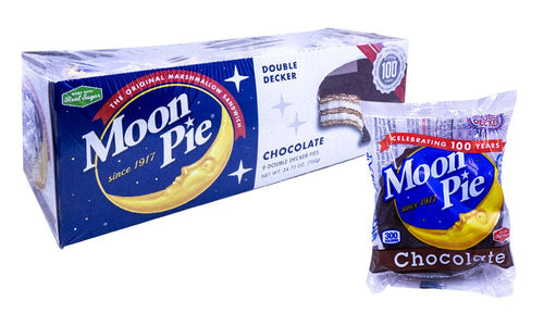 Moon Pie Double Decker Chocolate 2.75oz 9 Count Box