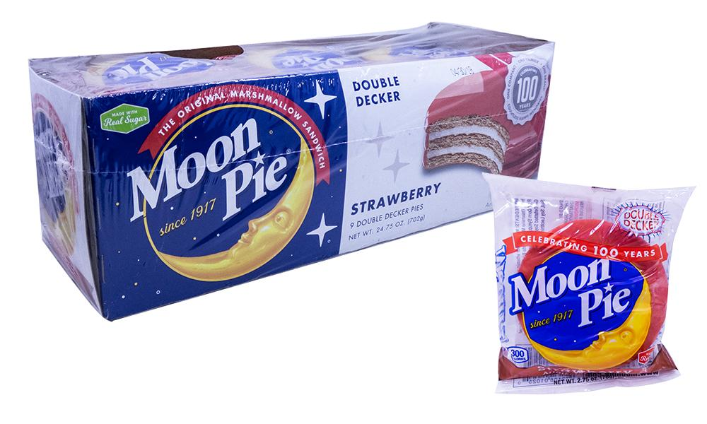 Moon Pie Double Decker Strawberry 2.75oz or 9 Count Box