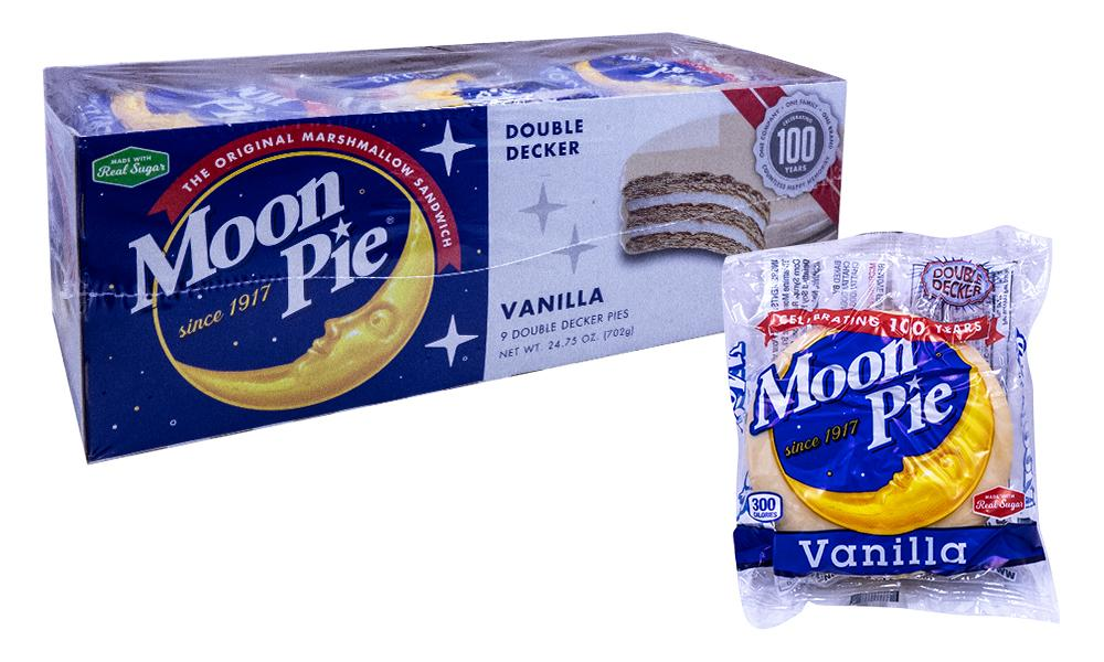 Moon Pie Double Decker Vanilla 2.75oz or 9 Count Box