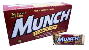 Munch Peanut Bar 1.46oz Candy Bar 36 Count Box