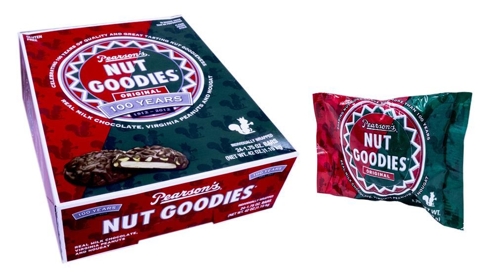 Nut Goodie Bar 1.75oz Candy Bar or 24 Count Box