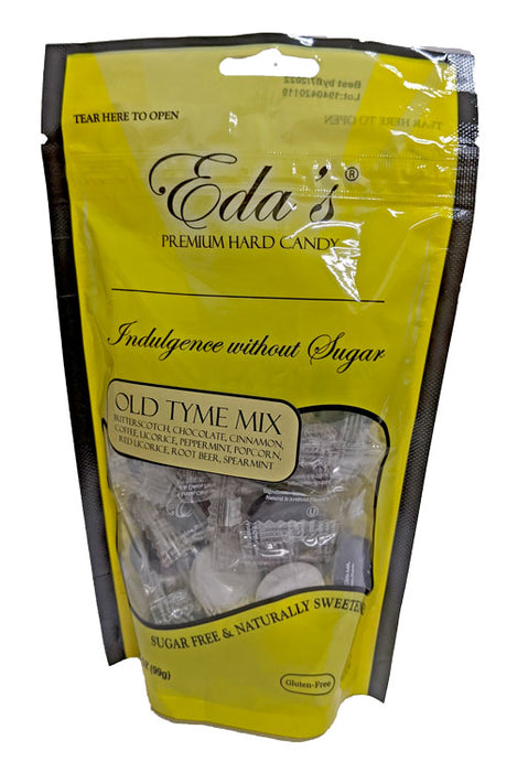 Eda's Sugar Free Hard Candy Old Tyme Mix 3.5oz or 12 Count Box