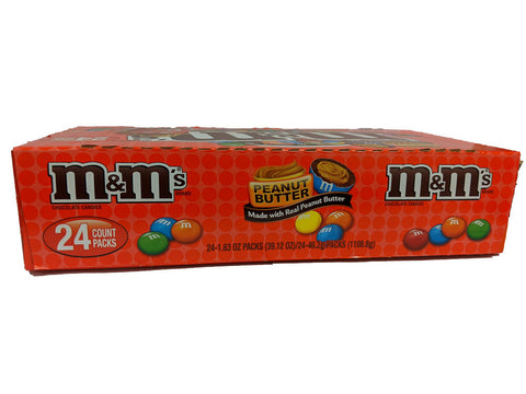 M & M Milk Chocolate Peanut Butter 1.63oz Bag or 24 Count Box