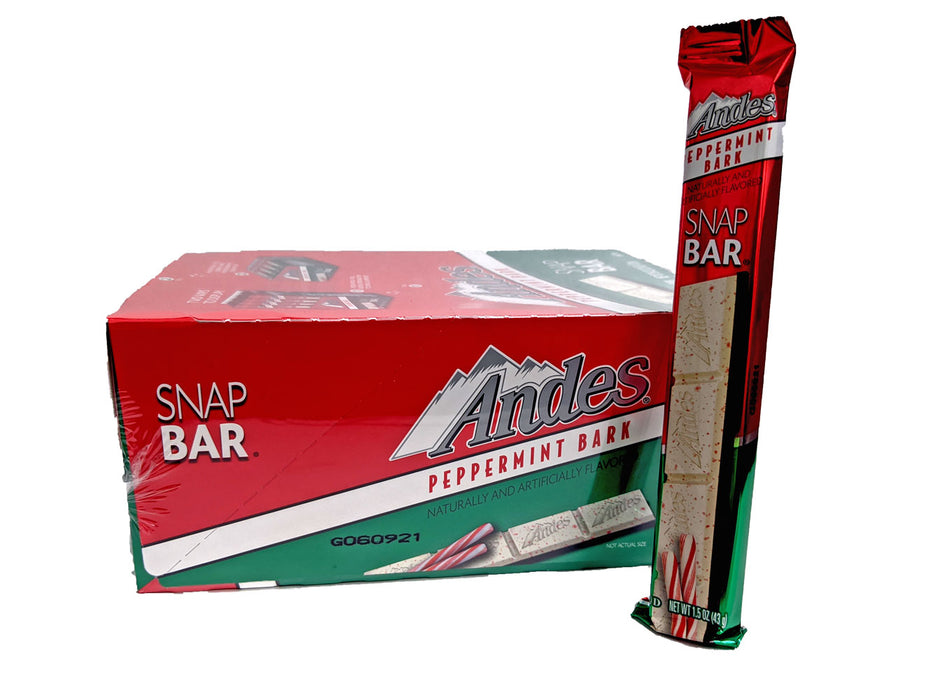 Andes Peppermint Bark 1.5oz Snap Bar