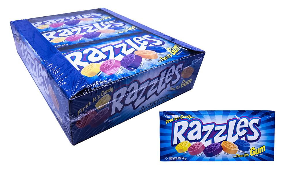 Razzles Original Gum 1.4oz Pack or 24 Count Box