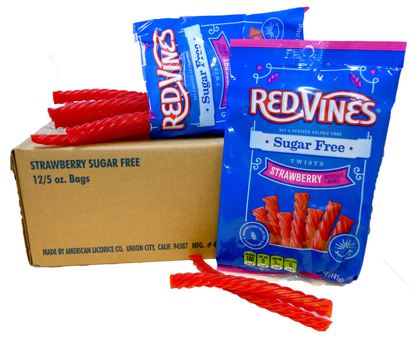 Red Vines Licorice Sugar Free Strawberry 5oz Bag or 12 Count Box