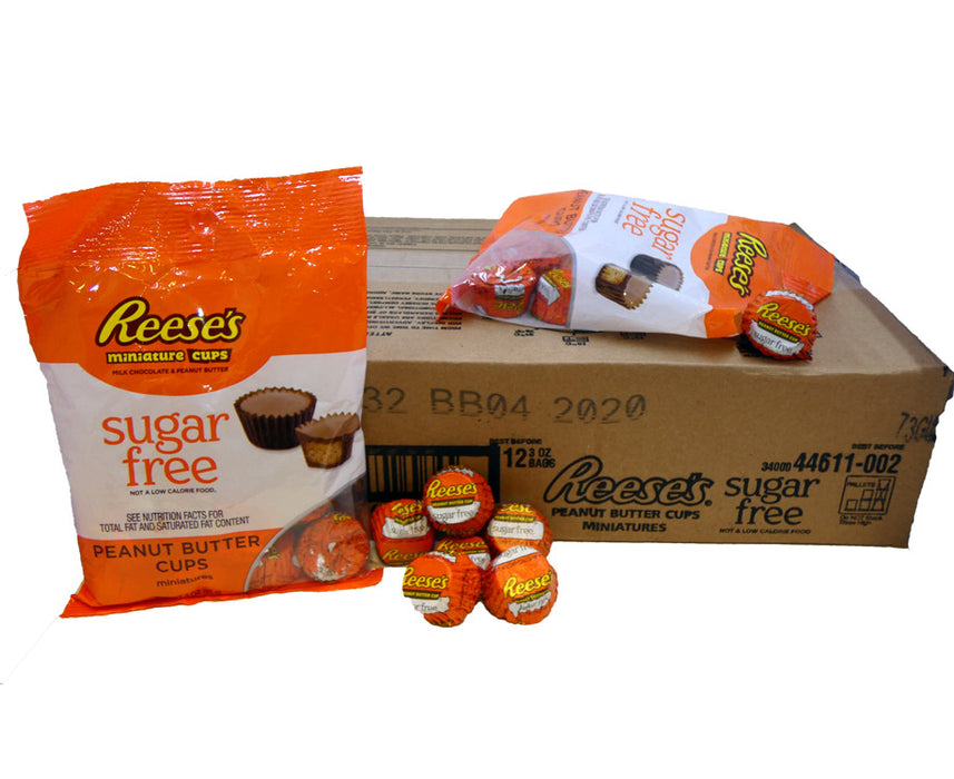 Reese's Sugar Free Peanut Butter Cup Miniatures 3oz Bag or 12 Count Box