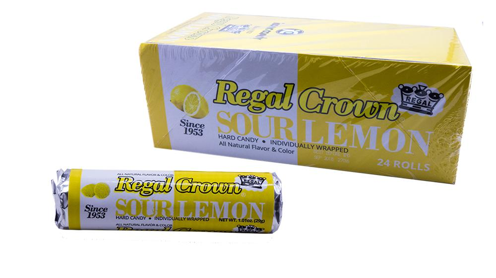 Regal Crown Sour Lemon 1.01oz Roll or 24 Count Box