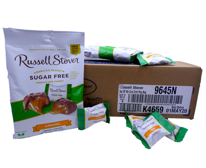 Russell Stover Sugar Free Creamy Caramel 3oz Bag or 12 Count Box