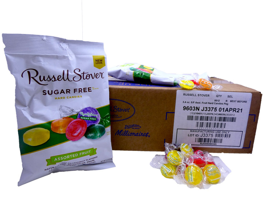 Russell Stover Sugar Free Hard Candy 3.4oz Bag or 12 Count Box