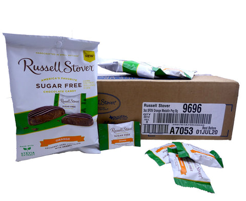 Russell Stover Sugar Free Orange 3oz Bag or 12 Count Box