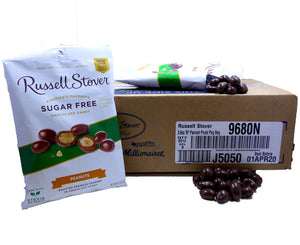 Russell Stover Sugar Free Panned Peanuts 3.6 oz Bag or 12 Count Box