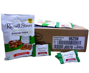 Russell Stover Sugar Free 3 oz Bag Pecan Delight 12 Count Box