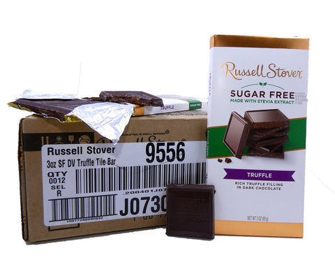 Russell Stover Sugar Free Chocolate Truffle 3oz Bar or 12 Count Box