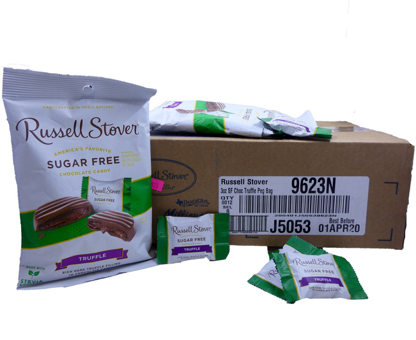 Russell Stover Sugar Free Chocolate Truffle 3oz Bag or 12 Count Box