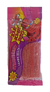 Sour Power Belts Strawberry 1.75oz Package or 24 Count