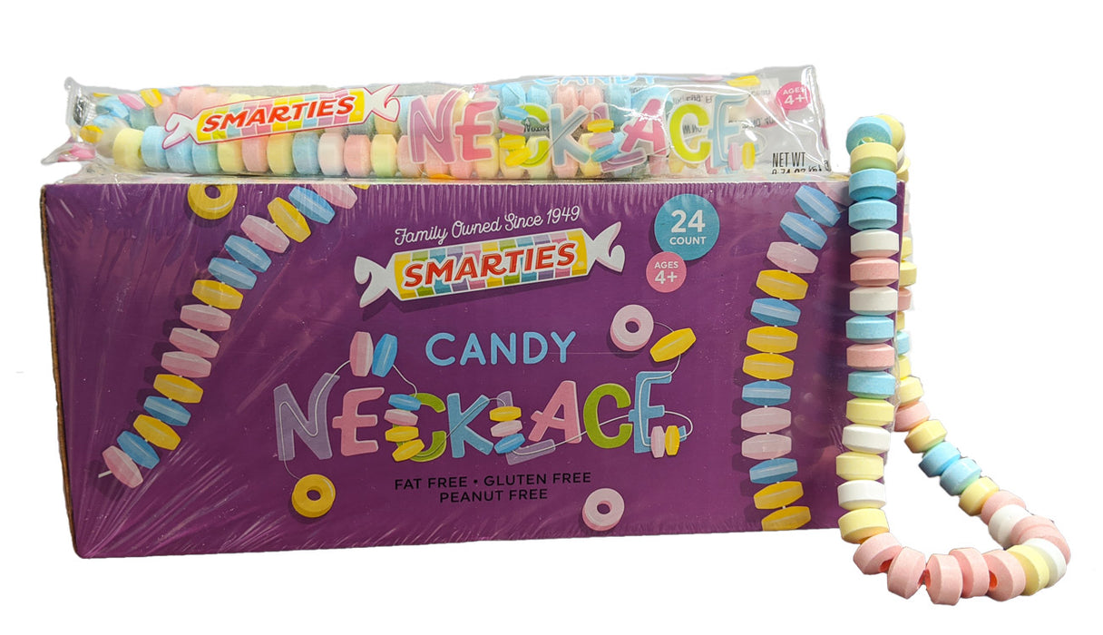 Smarties Candy Necklace .75oz Piece or 24 Count Box
