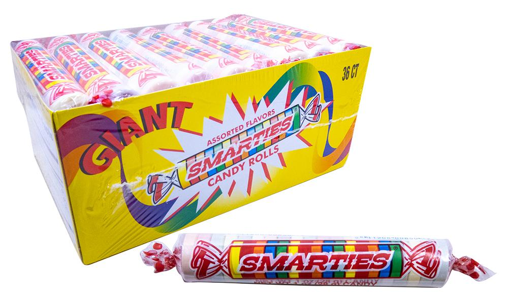 Smarties 1oz Giant Roll or 36 Count Box