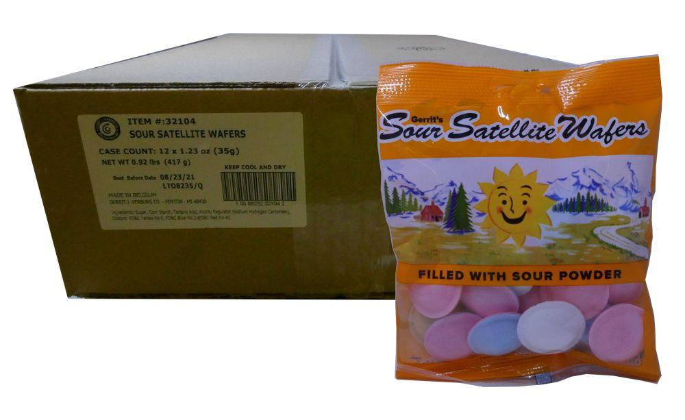 Satellite Wafers Sour 28 Piece Bag 1.23oz or 12 Count Box