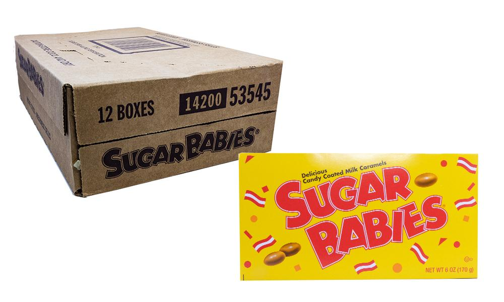 Sugar Babies 6oz Theater Box or 12 Count Case