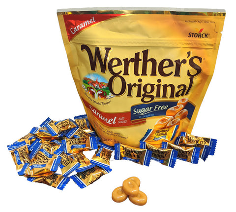 Werther's Original Sugar Free Hard Candies 7.7 oz Bag or 12 Count Box