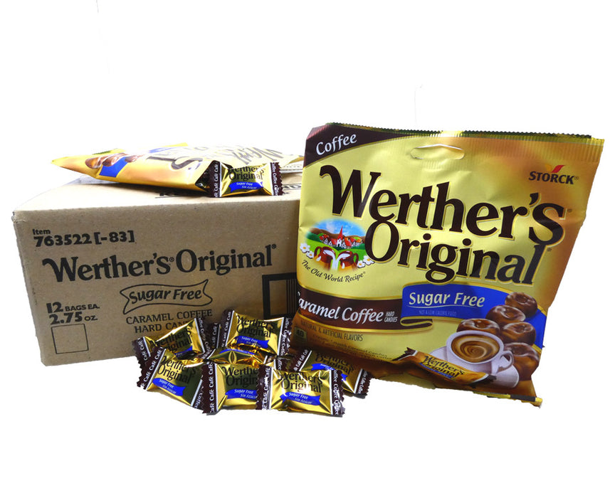 Werther's Original Sugar Free Caramel Coffee 2.75 oz Bag or 12 Count Box
