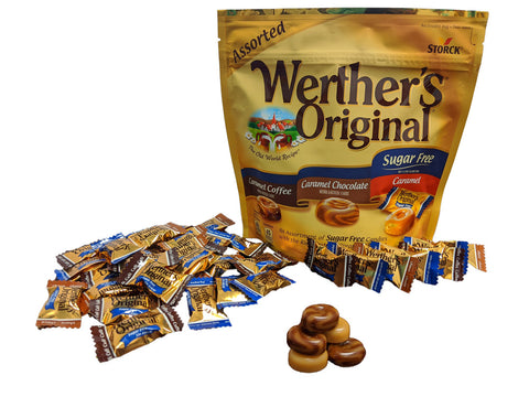 Werther's Original Sugar Free Assorted Candies 7.7 oz Bag or 12 Count Box