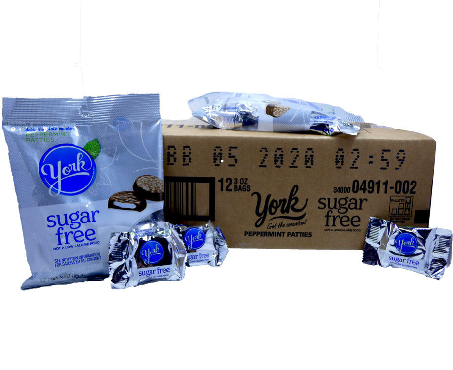 York Sugar Free 3 oz Bag Peppermint Patties 12 Count Box
