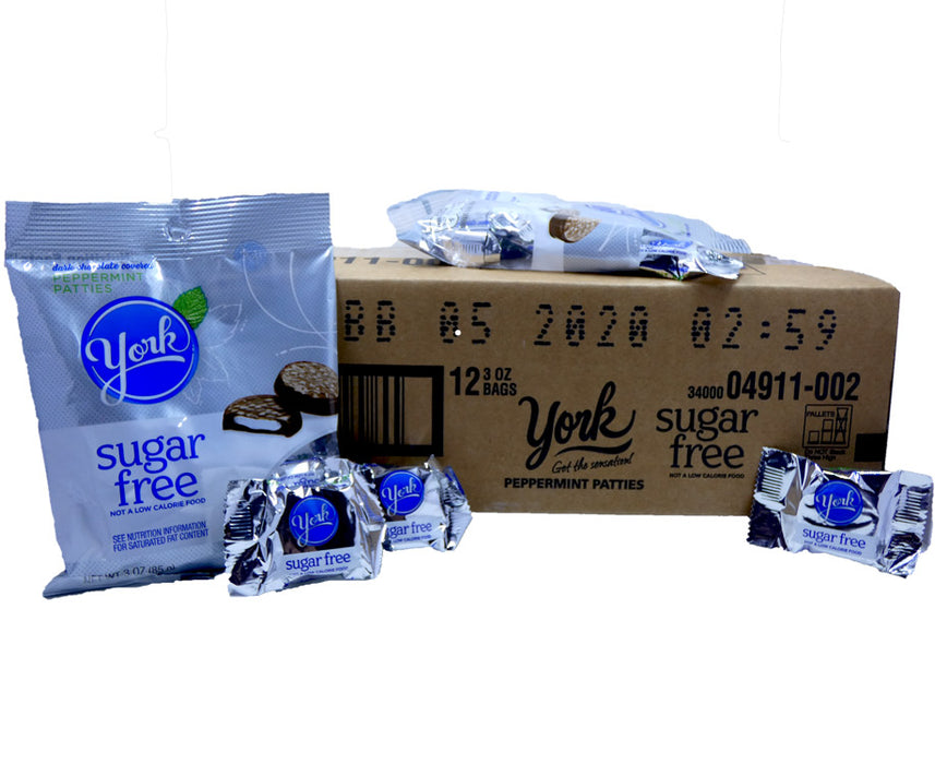 York Sugar Free Peppermint Patties 3oz Bag or 12 Count Box