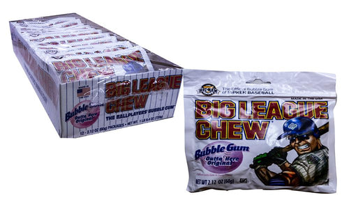 Big League Chew 2.1oz Original Gum 12 Count Box