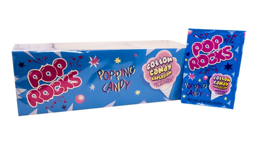 Pop Rocks Cotton Candy .33oz Pack or 24 Count Box