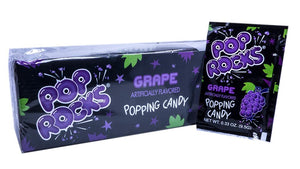 Pop Rocks Grape .33oz Pack or 24 Count Box