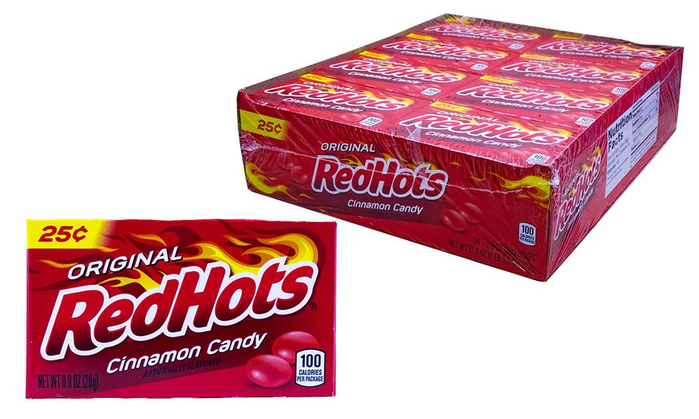 Red Hots .9oz Box 24 Count Pack