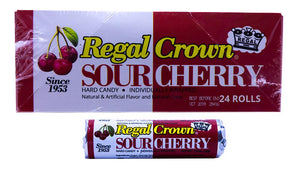 Regal Crown Sour Cherry 1.01oz Roll or 24 Count Box