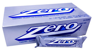 Zero 1.85oz Candy Bar or 24 Count Box
