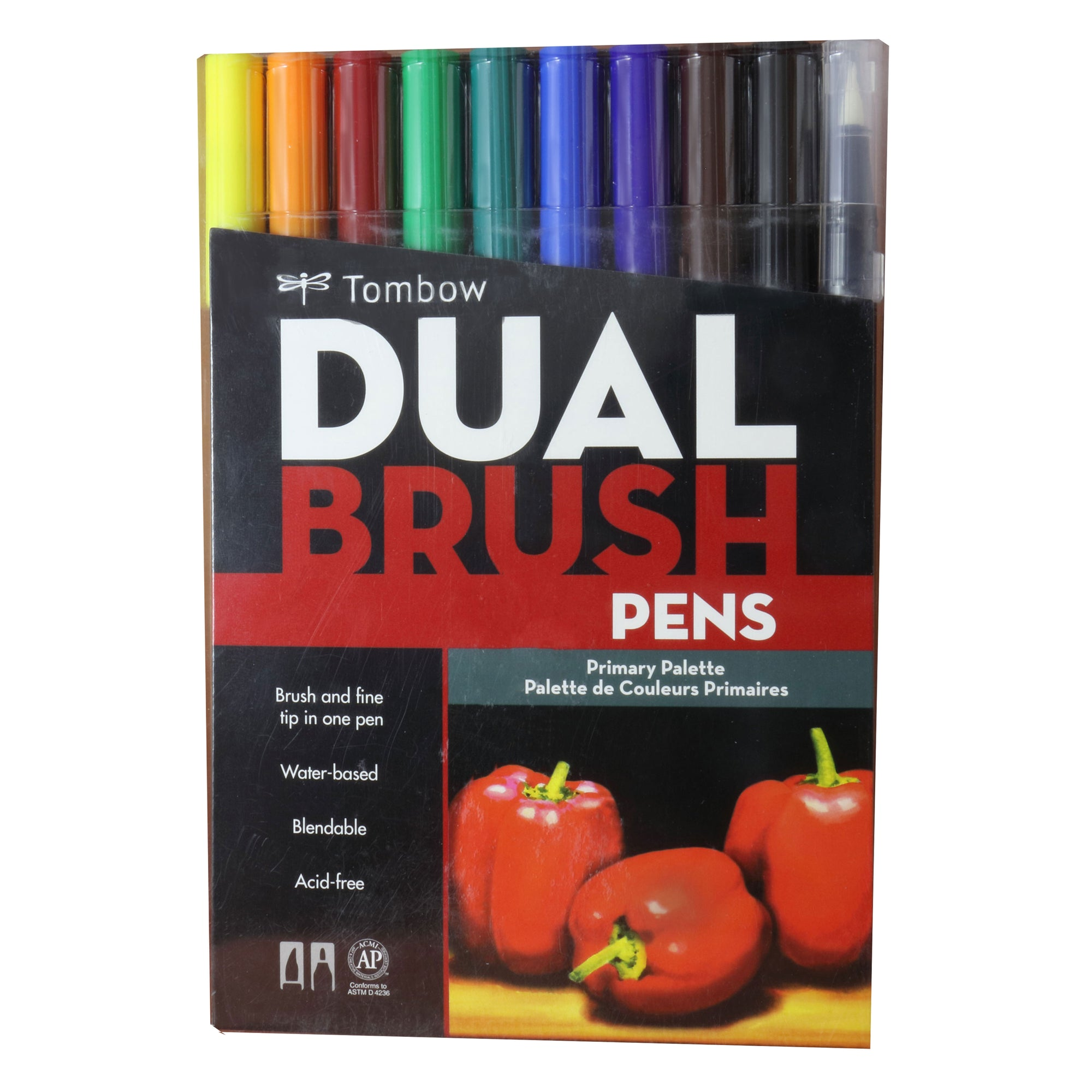Plumones Tombow Dual Brush set colores primarios