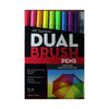 Plumones Tombow Dual Brush set colores brillantes