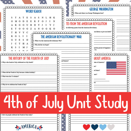 4th of July Unit Study