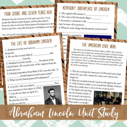 Abraham Lincoln Unit Study