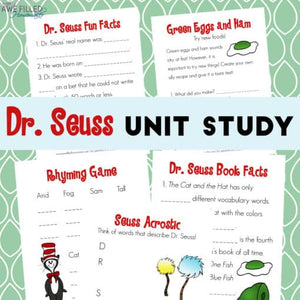 Dr. Seuss Unit Study
