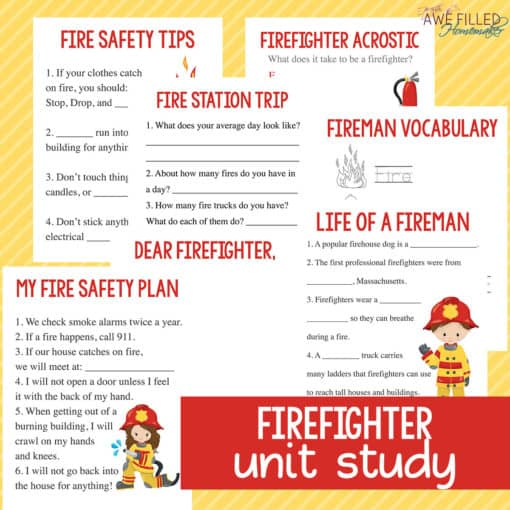 Firefighter Unit Study