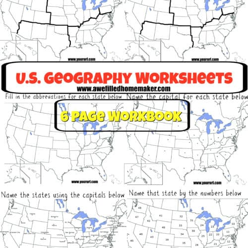 US Geography Printable Workbook