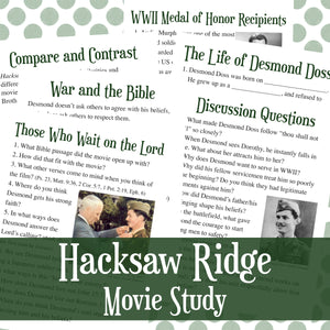 Hacksaw Ridge Unit Study