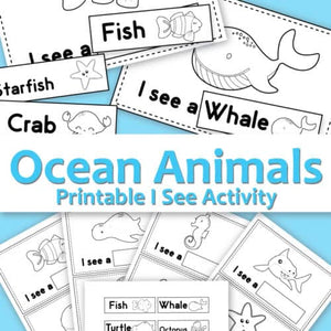 I See Ocean Animals - Printable Activity