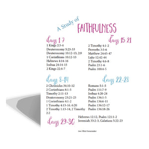 Faithfulness, Journal Through The Bible + Scripture Cards