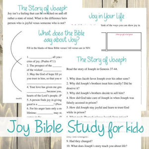 Joy Bible Study (For Kids)