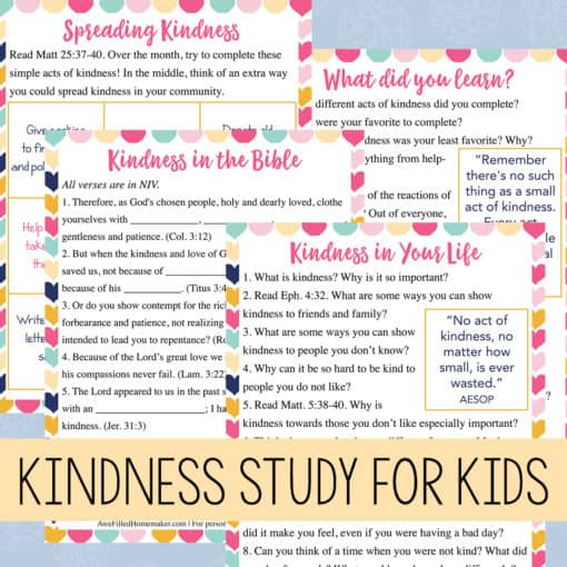Kindness Bible Study for Kids