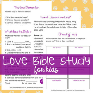 Love Bible Study (For Kids)