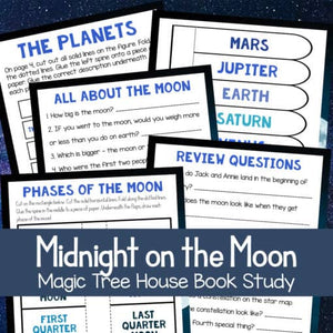 Midnight on the Moon (Magic Treehouse) Unit Study