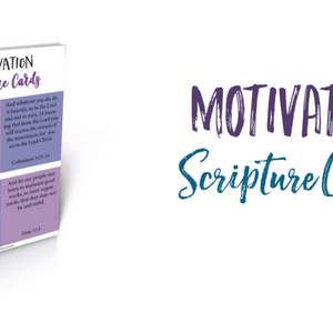 Motivation Scripture Cards